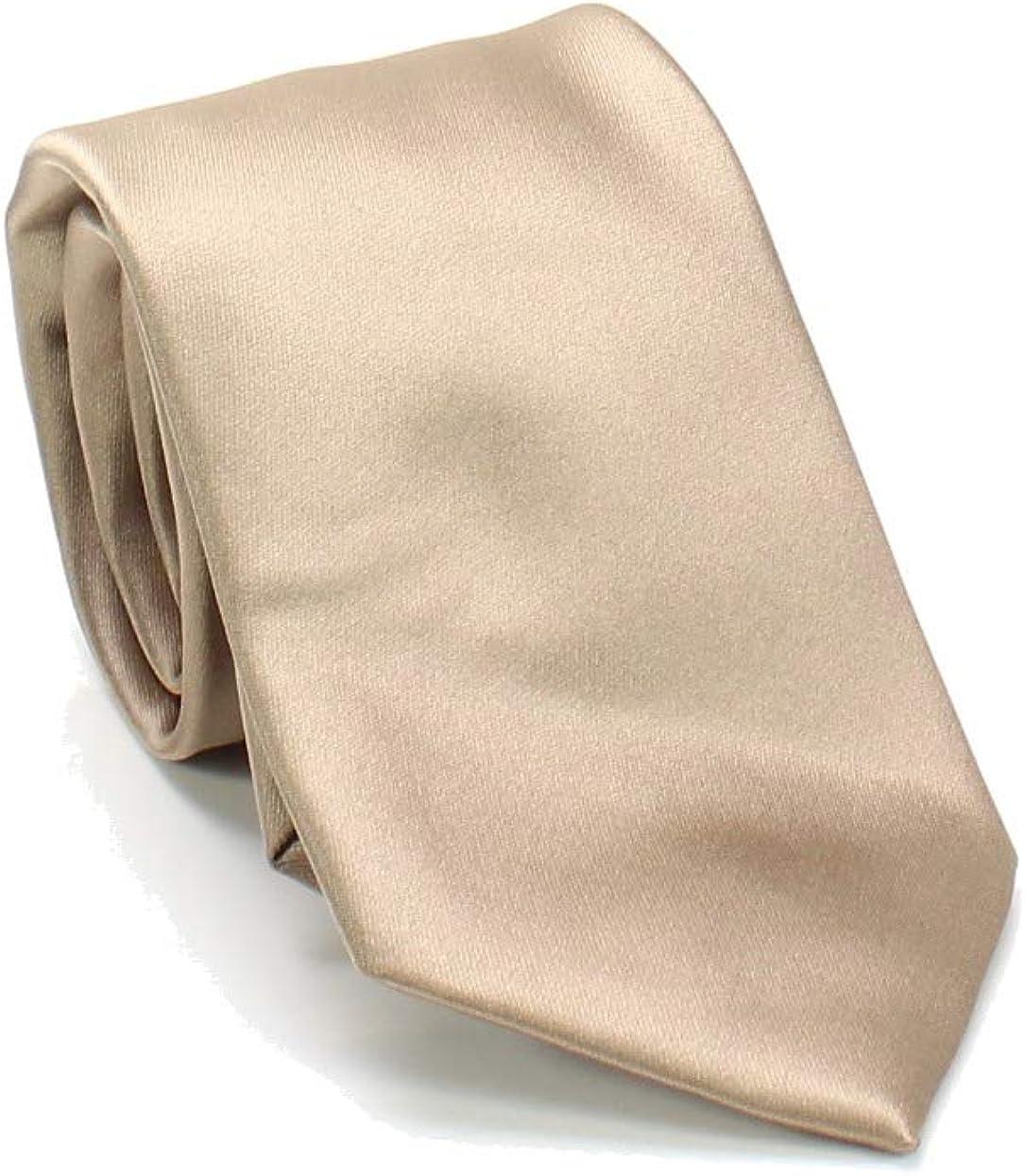 Geoffrey Beene Mens Satin Self-tied Necktie, Beige, One Size