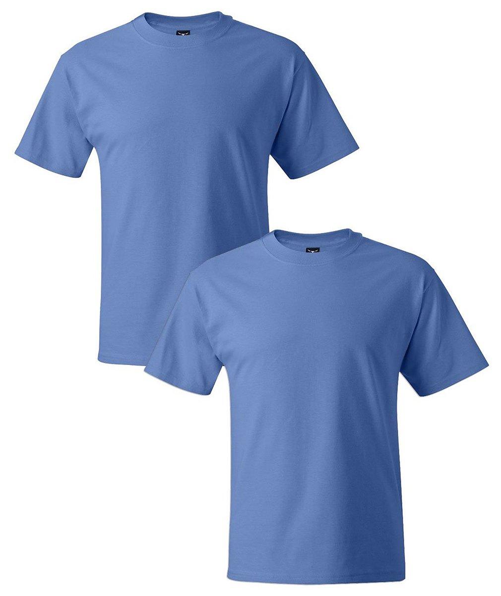 ヘインズがっしりした体格-Tメンズ半袖Tシャツは、2がロード