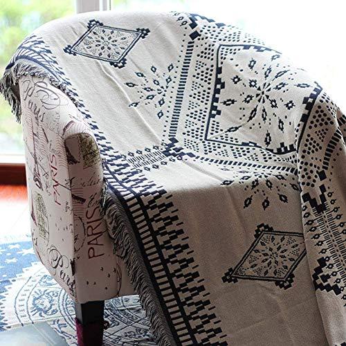 Auink Cojín de Columpio al Aire Libre Fundas de sofá Decorativas Reversibles, Manta de Tiro [Borla] Sofá sofá Silla Muebles Funda de sofá Funda de sofá Funda-A 91 * 134in