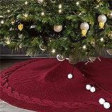 pegtopone Weihnachtsbaum Decke, Weihnachtsbaum Rock Dekoration Weihnachtsbaumdecke Rund Weihnachtsbaum Röcke Weihnachtsschmuck, Gestrickter Wollrock Für Weihnachtsbaum120cm