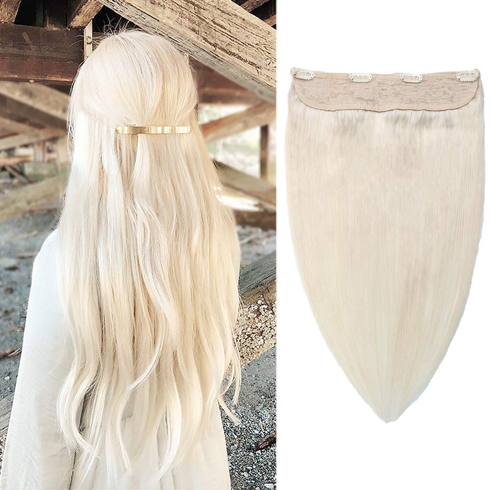 SURNEL Halo Hair Extensions Platinum Max 65% OFF Max 61% OFF Crown Remy