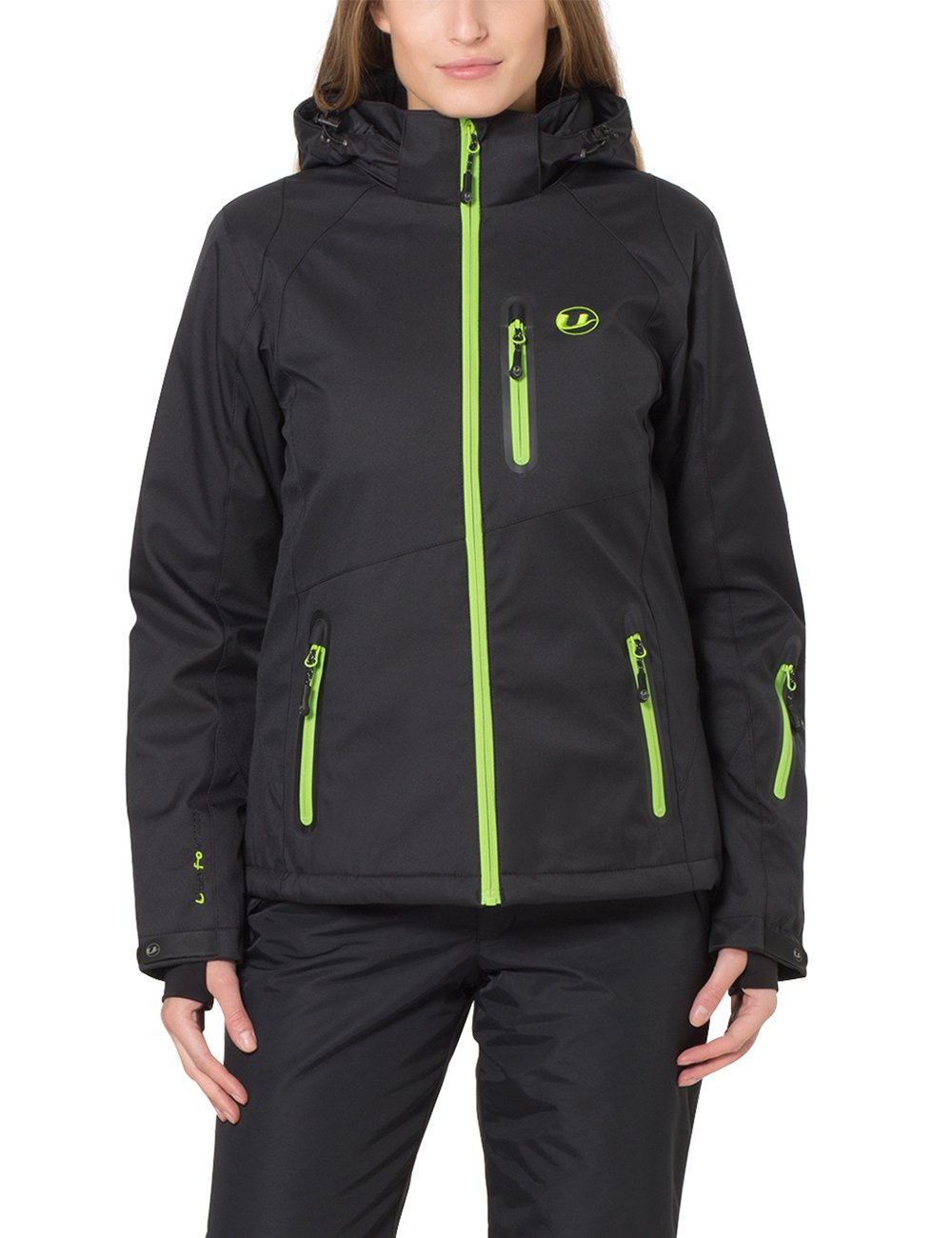 Ultrasport Damen Funktions Alpin Outdoorjacke Softshell Serfaus Jacke, Black/App