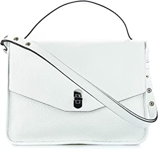 ca8dee59bca7 Coccinelle Women s Da5120201h10 White Leather Shoulder Bag