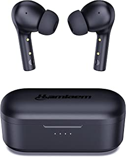 Hamlaem Cuffie Bluetooth 5.2 Senza Fili con Ricarica Wireless, Auricolari Wireless 30 Ore, IPX8 Impermeabili, MEMS Microfo...