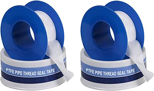 Supply Giant I33 134 PTFE Thread Seal Tape for Plumbers, White 3/4 Inch x 260 Inch, 2-Pack