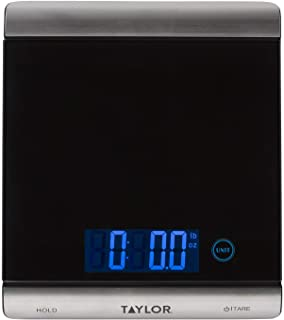Taylor Precision Products 3851 High-Capacity Digital Kitchen Scale, 33 Pounds, Black