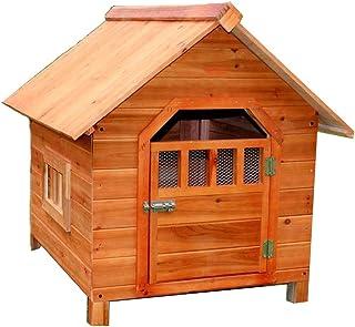LDFN Caseta De Perro De Interior Y Exterior De Madera Maciza Perrera De Lluvia Perrera Ambiental