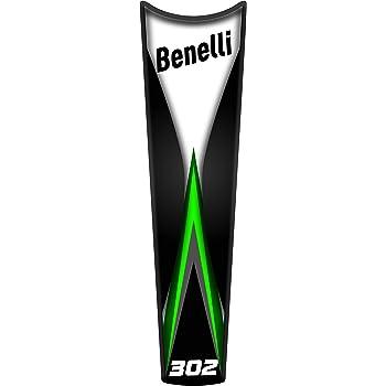 Green PARASERBATOIO ADESIVO RESINATO EFFETTO 3D compatibile con Benelli BN 302