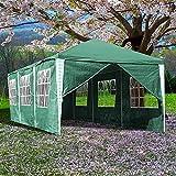 Clanmacy Pavillon 3x6m Wasserdicht Stabiles Partyzelt hochwertiges Gartenpavillon mit 6 Seitenteilen für Markt Camping Hochzeiten Festival