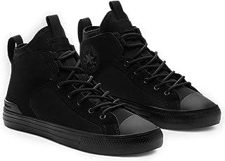Converse Men's CTAS Ultra Mid Sneaker, Black/Black/Black, 12 US