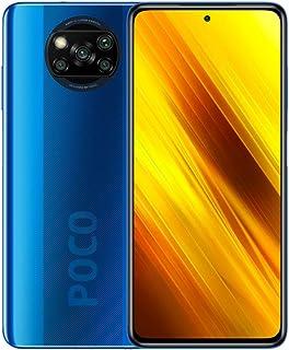هاتف شاومي بوكو اكس 3 الذكي، NFC، شريحتين اتصال، 6 جيجا رام، 64 جيجا، اصدار عالمي - ازرق