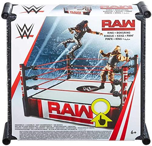 WWE Superstar Wrestling Ring - RAW - Komplett mit Pro-Tension-Technologie und gefederter Matte, ca. 14