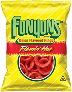 Frito Lay, Funyuns, 6oz Bag (Pack of 3) (Choose Flavors Below) (Flamin' Hot)