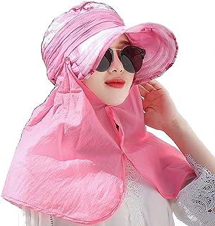 WN - Sombrero - Ciclismo de Verano para Damas Protección Solar Sombrero para el Sol Actividad al Aire Libre Cuello Facial Sombrero de sombrilla Integral (4 Colores) Sombrero para Mujer