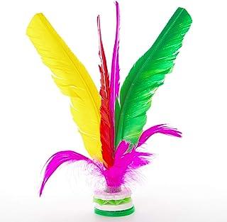 Colletia Jianzi 6 Pack Kick Shuttlecocks Colorful Feather Chinese Jianzi Foot Feather Sports Toy