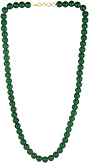 Efulgenz Handcrafted Green Crystal/Glass Stone Classic Round Beaded Strand Necklace Fashion Accessories Women Girls