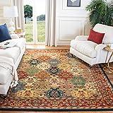 Safavieh Heritage Collection HG911A Handmade Traditional Oriental Premium Wool Area Rug, 9' x 12', Multi / Burgundy
