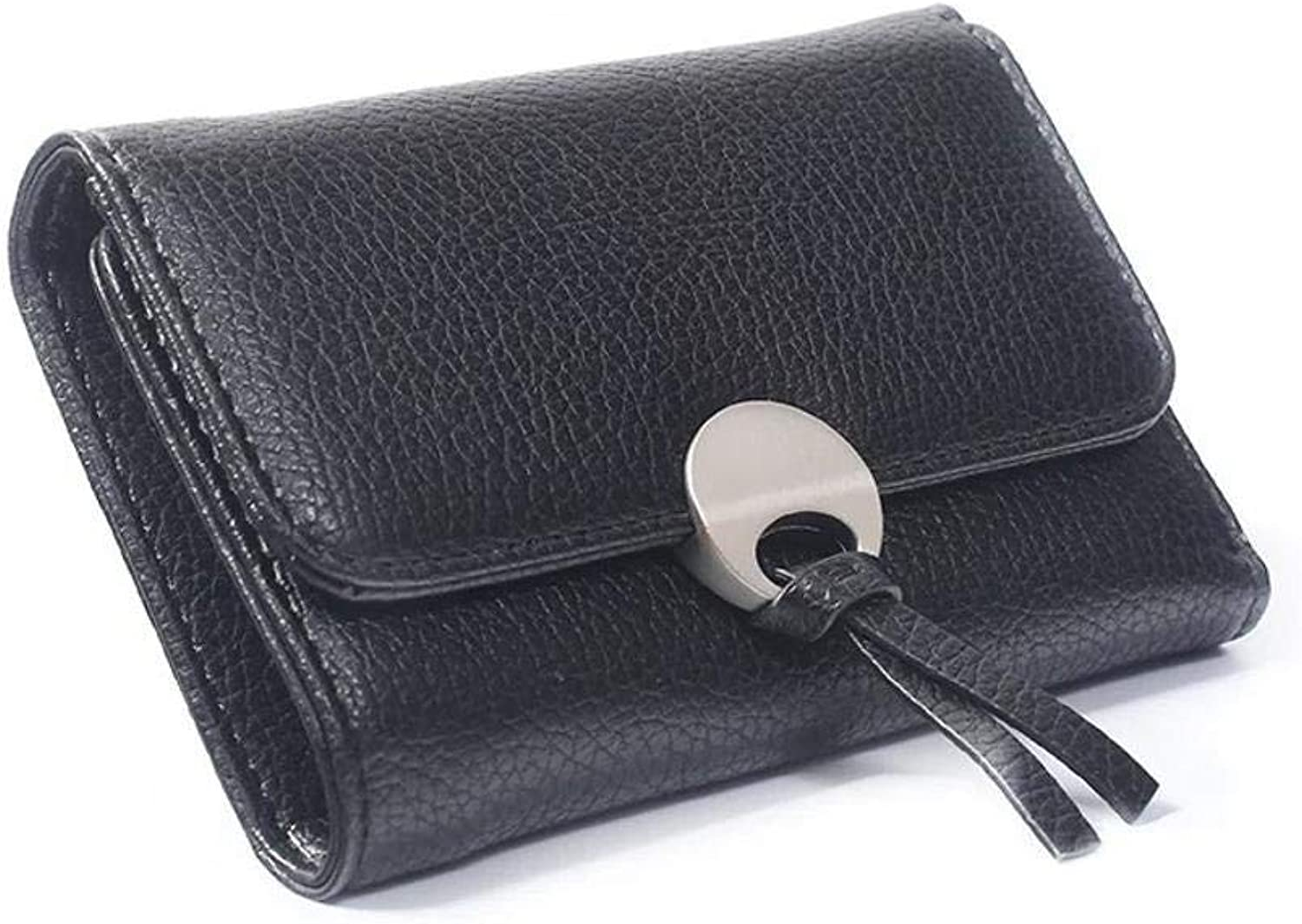 Girls Purse Women's Wallet Women's Purse Short Girls Short 30 Percent Buckle Wallet (color   E)