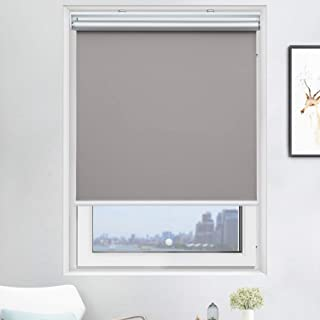 """Cordless Roller Shades Light Blocking UV Protection Window Shades for Home, Hotel, Club,Grey 23x72"""""""