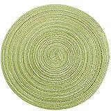 ZJY 1 unids Tejido Mesa Mesa Mater PLACEMA Pad COTIR TOTOS RESERVANTES DE COFERA COPETAS Coaster SHARTHWARE Mat HOGAR Decoración de la casa Herramienta de la Cocina (Color : Green, Size : Large)