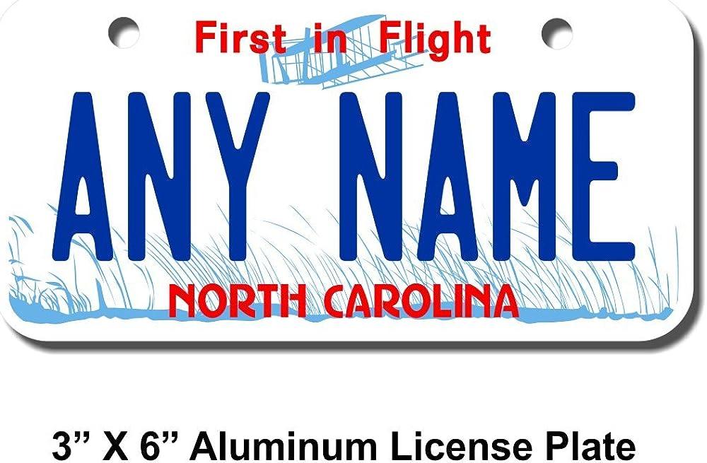 TEAMLOGO Personalized North Carolina License Plate 6 - 3