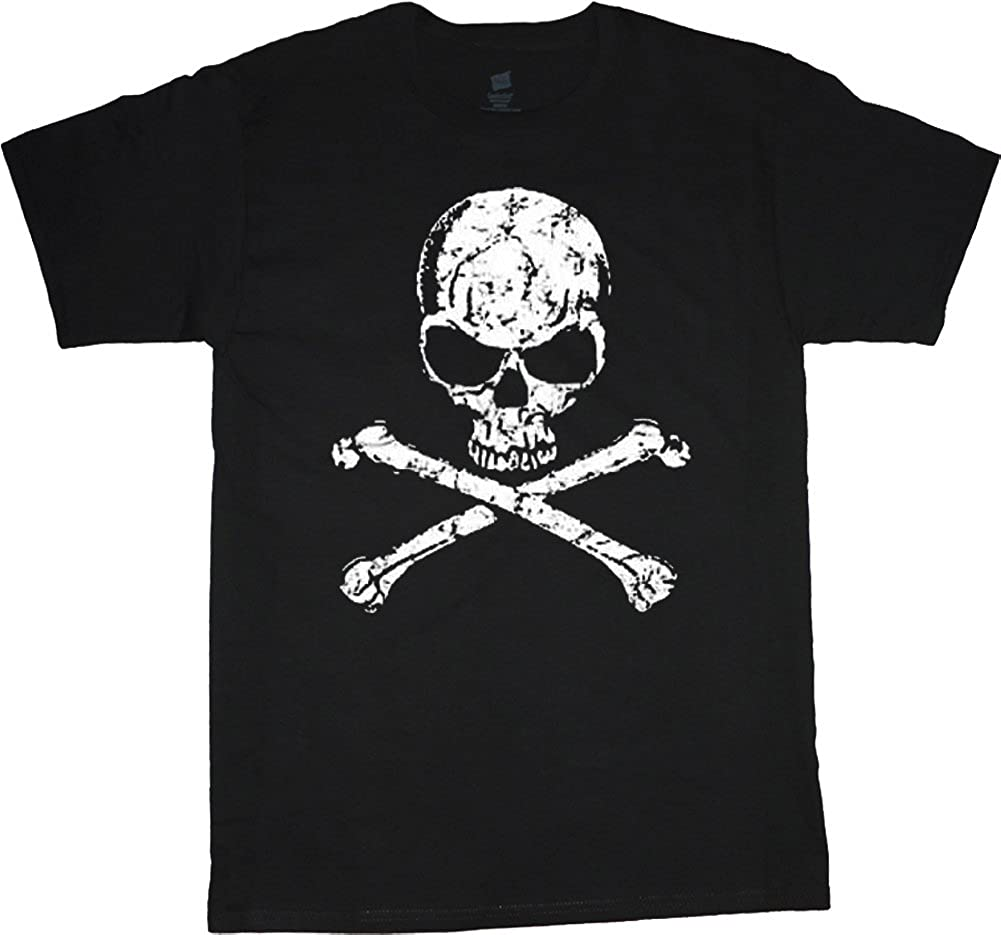 Decked Out Duds Big and Tall Shirt Jolly Roger Pirate Flag Decal tee