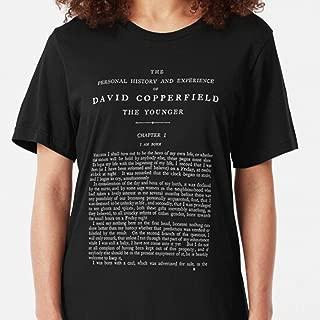 ZENFAON - HIGH RESOLUTION David Copperfield Charles Dickens First Page TShirt Slim Fit TShirt.jpeg - Teacher Assistant T-Shirts - Fun Teacher T Shirts
