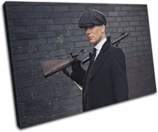 Bold Bloc Design - Peaky Blinders Television Show TV 45x30cm SINGLE Canvas Art Print Box Framed Picture Wall Hanging - Hand Made In The UK - Framed And Ready To Hang 13-2485(00B)-SG32-LO-A