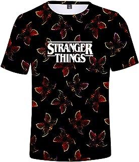 Stranger Things 3Dプリント Tシャツ ストレンジャー・シングス 半袖 トップ 大きいサイズ カジュアル シンプル ファッション 通勤 通学 運動夏服 男女兼用 超カコイイ