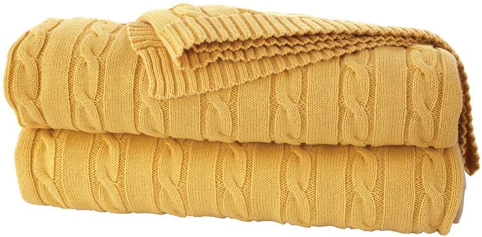 ULUDAG TRIKO Knitted Throw New Shipping Free Blankets for Dallas Mall Home Textu 100% Cotton -