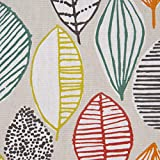 SCHÖNER LEBEN. Tischdecke Canyon Blätter beige braun grün rot Verschiedene Größen, Tischdecken Größe:130x130cm - 4