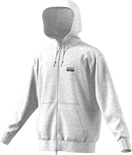 adidas Men's Essentials 3-Stripe Full Zip Fleece Hoodie