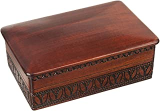 JEWELRY WOODEN BOX Handmade Linden Wood Keepsake, Made in Poland