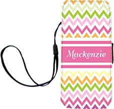 """Rikki Knight""""Mackenzie"""" Pink Chevron Name Flip Wallet iPhoneCase with Magnetic Flap for iPhone 5/5s -""""Mackenzie"""" Pink Chevron Name"""