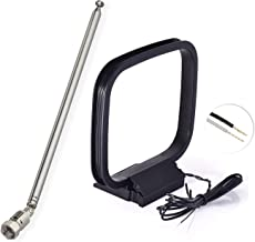 Bingfu 7-Sections Telescopic FM Antenna and AM Loop Antenna for Denon Pioneer Onkyo Yamaha Marantz Indoor Digital HD Radio FM Bluetooth Stereo Receiver AV Audio Vedio Home Theater Receiver Amplifier