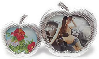 Shiani Dual Photo Frame Metal Fridge Magnet (Silver)