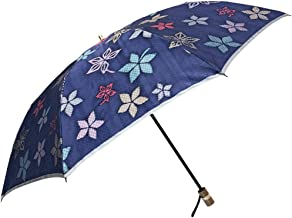 NOBEL(ノーベル) レディース 折り畳み傘 雨傘 日本製 親骨55cm 甲州産ジャガードほぐし織り カエデ柄 女性