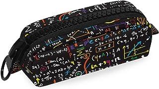 CaTaKu Trousse à crayons pour études de mathématiques Grande trousse de rangement avec fermeture éclair pour maquillage et...