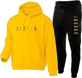 Jordan Basketball Hoodie Tracksuit for Men,Bulls 23# Swing Man Jersey Pullover,Long Sleeve Fashion Two Piece Sets Sportswe...