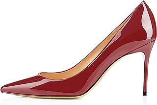 0c3f8732a30f84 EDEFS - Scarpe con Tacco Donna - Tacco A Spillo 8 CM - Scarpe da Donna