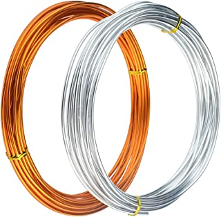 65.6 Feet Copper Aluminum Wire Sculpture Wire Feet Silver Aluminum Craft Wire Bendable Metal Soft and Flexible Metal Armature Wire for Jewelry Making, Dolls Skeleton DIY Crafts, 3mm Thickness