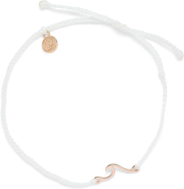 100/% Waterproof Pura Vida Gold or Silver or Rose Gold Shoreline Anklet w//Plated Charm Adjustable Band