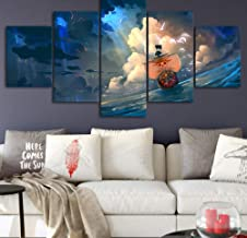 FEISENWLH Five Panel Canvas Painting Canvas Home Decoration Wall Art Frameless 5 Pieces Living Room Hd Painting Modern Anime Picture