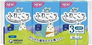 ソフィ ふわごこち 無香料 38コ入×3個パック(unicharm Sofy)
