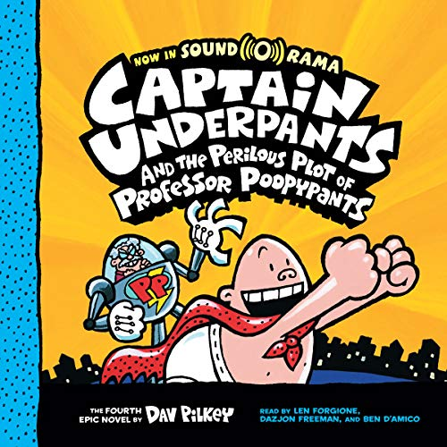 Captain Underpants and the Perilous Plot of Professor Poopypants audiobook cover art