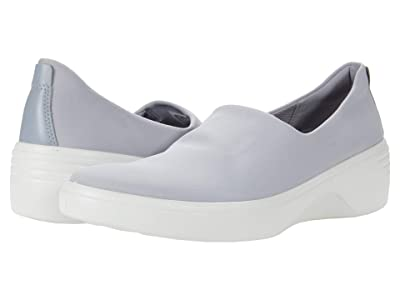 ECCO Soft 7 Wedge Slip-On (Silver Grey/Silver Grey) Women