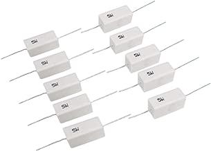 10pcs 180 ohm 180RΩJ 5 watt Axial Ceramic Cement Power Resistor 5W