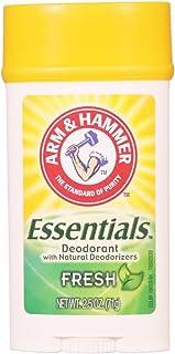Arm & Hammer Essentials Natural Deodorant, Fresh 2.5 oz (Pack of 6)