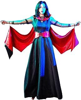 WDSAT Women's Halloween Dress for Women Vintage Pumpkin Ghost Print Halter Party Party Swing Dress