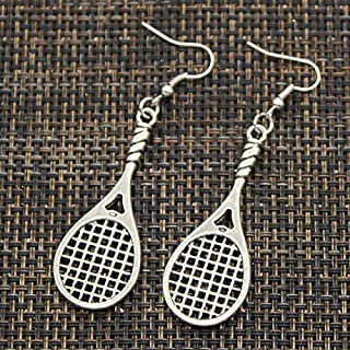Mct12 - New Handmade tennis racket Pendants Silver Earrings For Womens Style